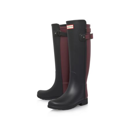 Hunter Org refined back strap wellington boots