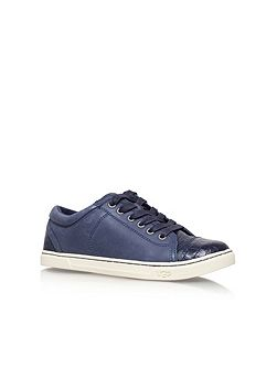 Taya croco flat lace up sneakers