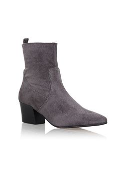 Silky high heel ankle boots