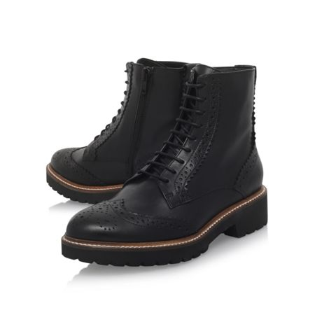 Carvela Snail flat lace up ankle boots