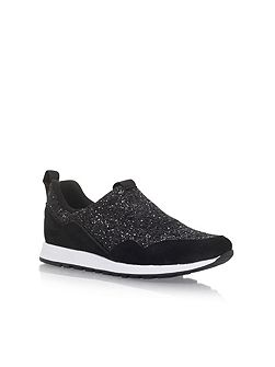 Logical flat lace up sneakers