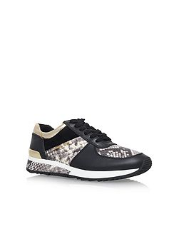 Allie wrap flat lace up trainers