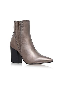 Slate high heel ankle boots