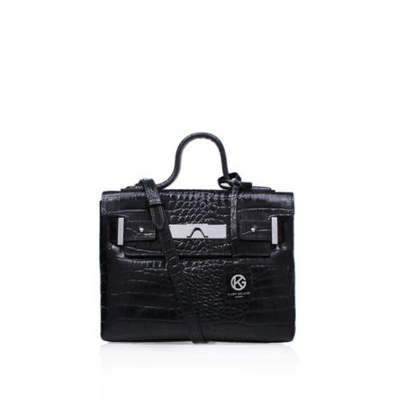 Kurt Geiger London Croc mini britt tote bag