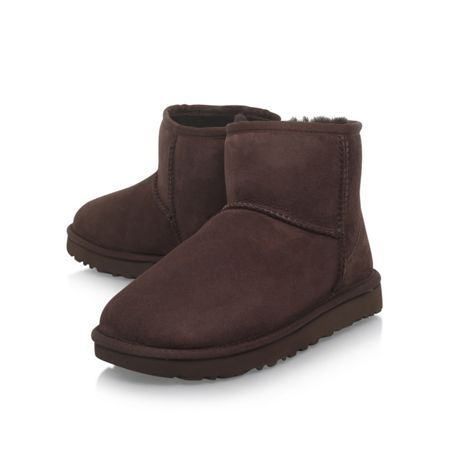 UGG Mini chocolate II flat fur lined boots