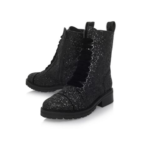 KG Sparkle low heel lace up ankle boots