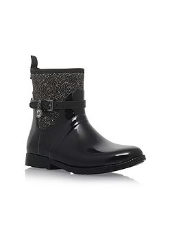 Charm stretch rainbootie ankle boots