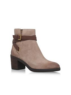Fawn bootie mid heel ankle boots