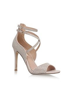Faleece high heel sandals