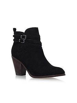 Spike high heel ankle boots