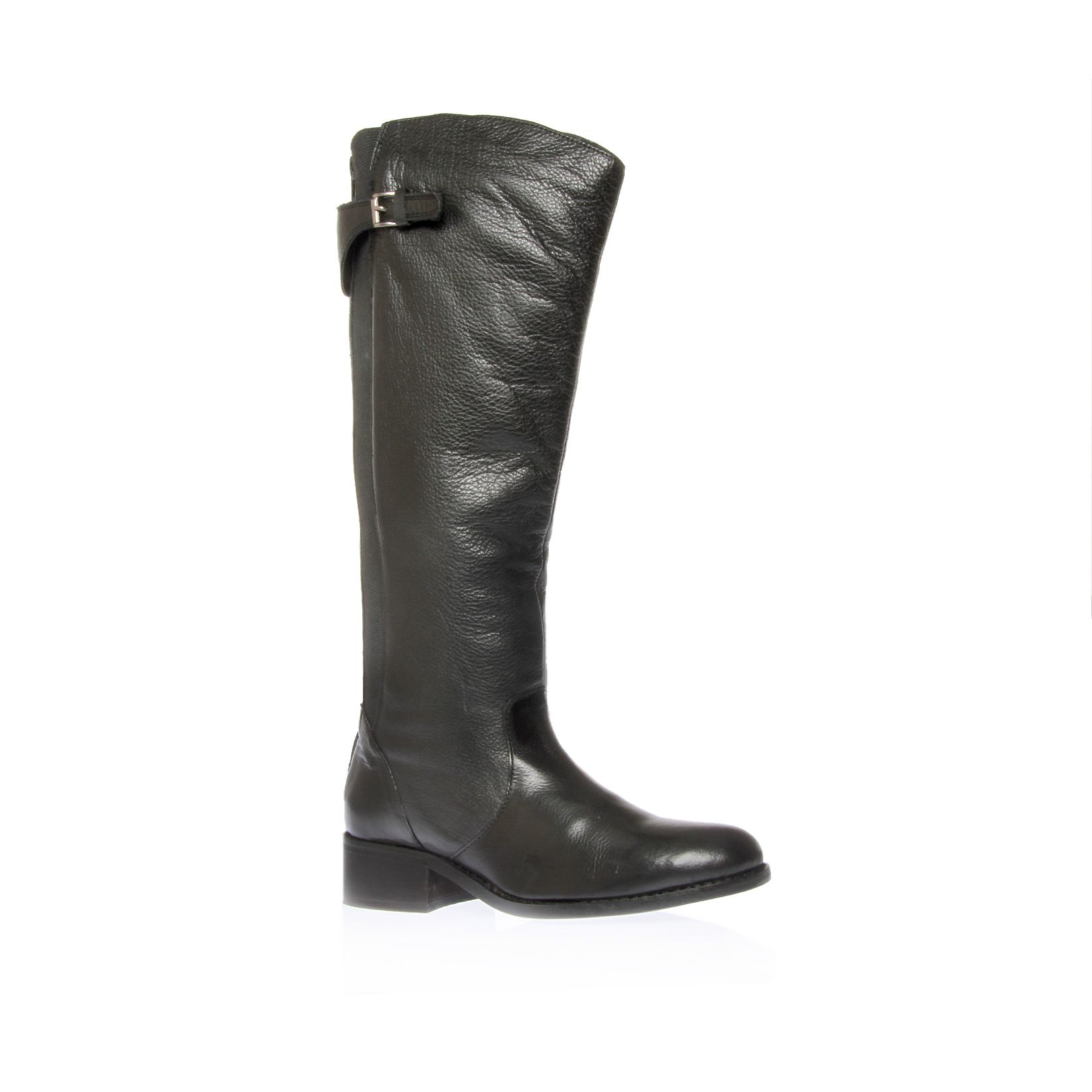 Whip flat knee high boots