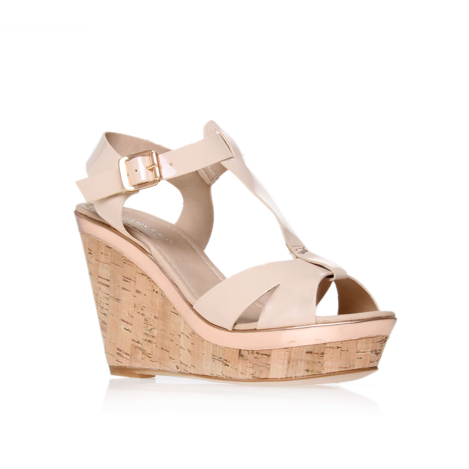 Kab wedge court shoes