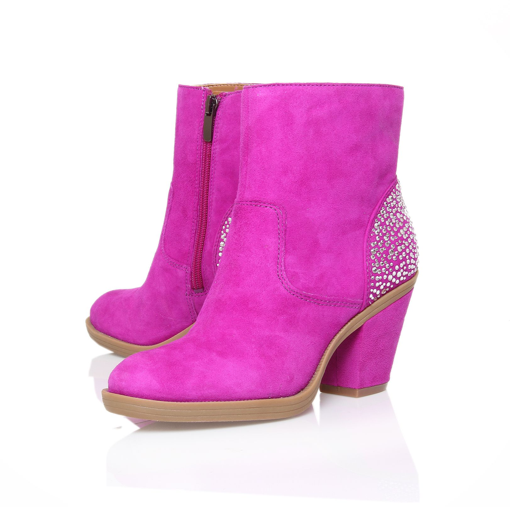 Emzy Block Heeled Ankle Boots