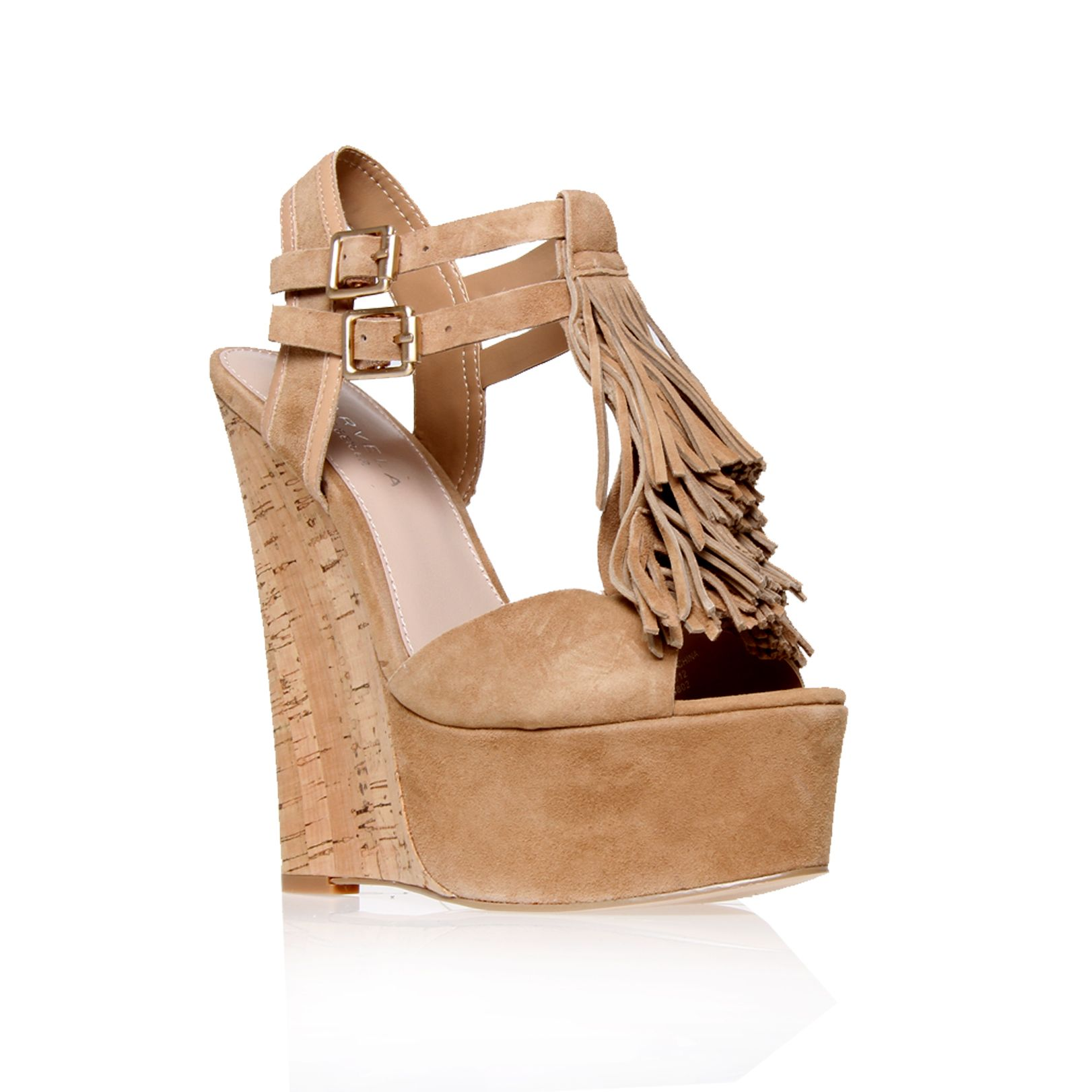Kola suede wedge sandals