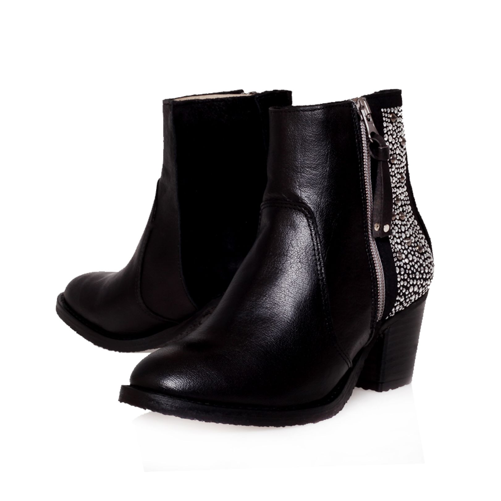 Shark leather ankle boots