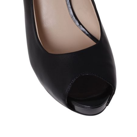 Nine West Camya high heel peep toe court shoes