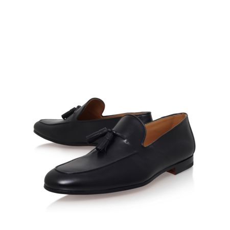 Magnanni Tassel Loafer Black Flat Slip-On Shoes