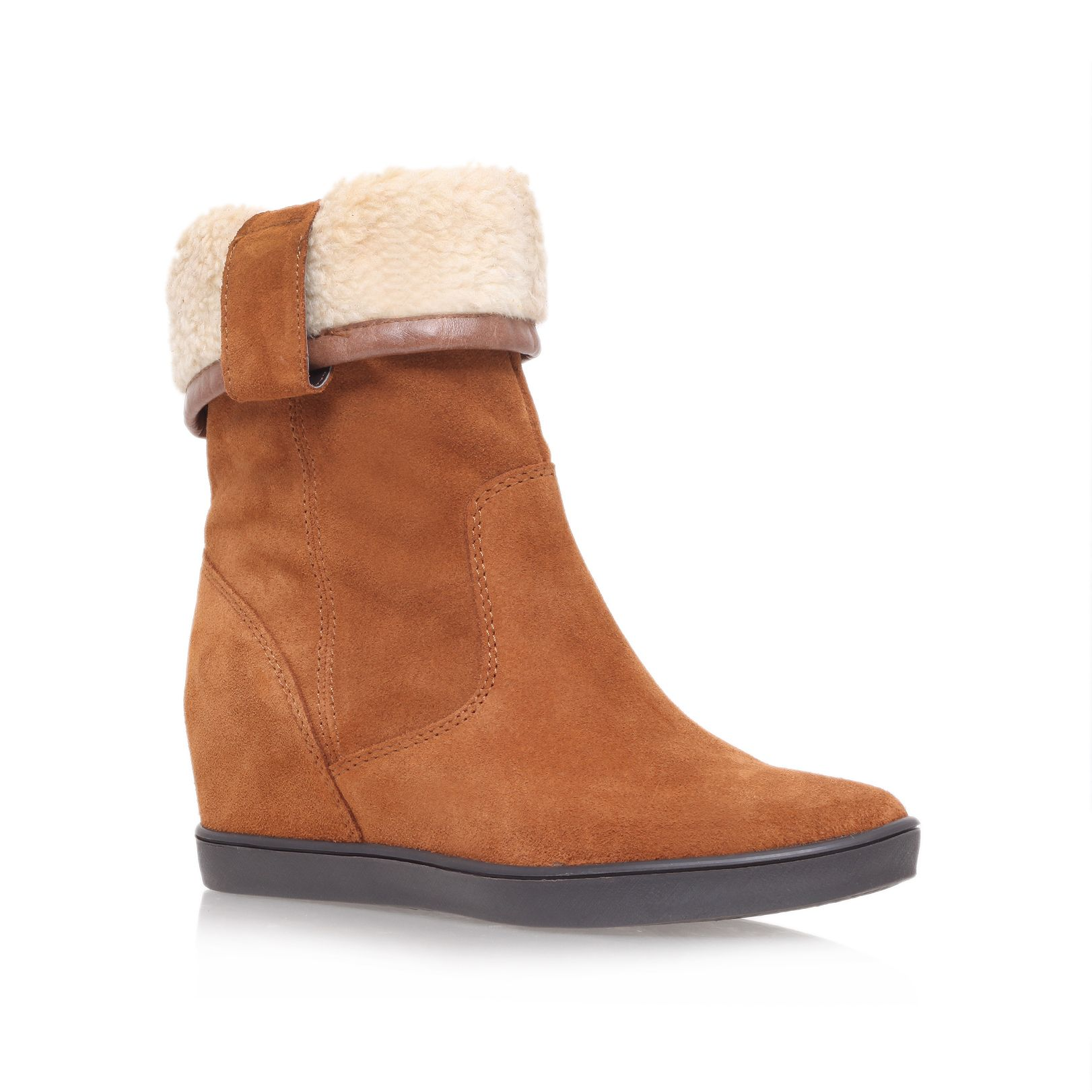 Shore low heel wedge ankle boots