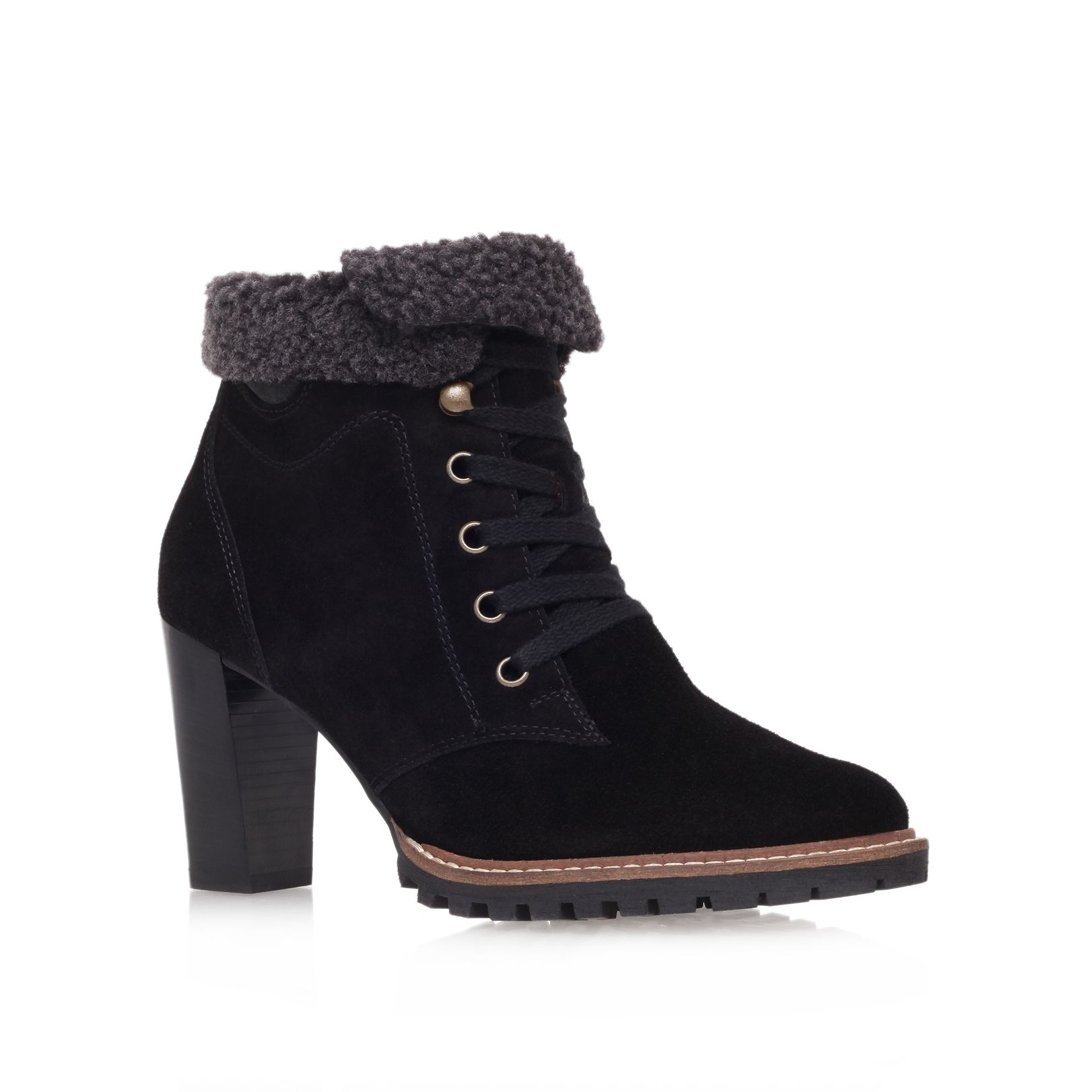Ruth mid heel lace up ankle boots