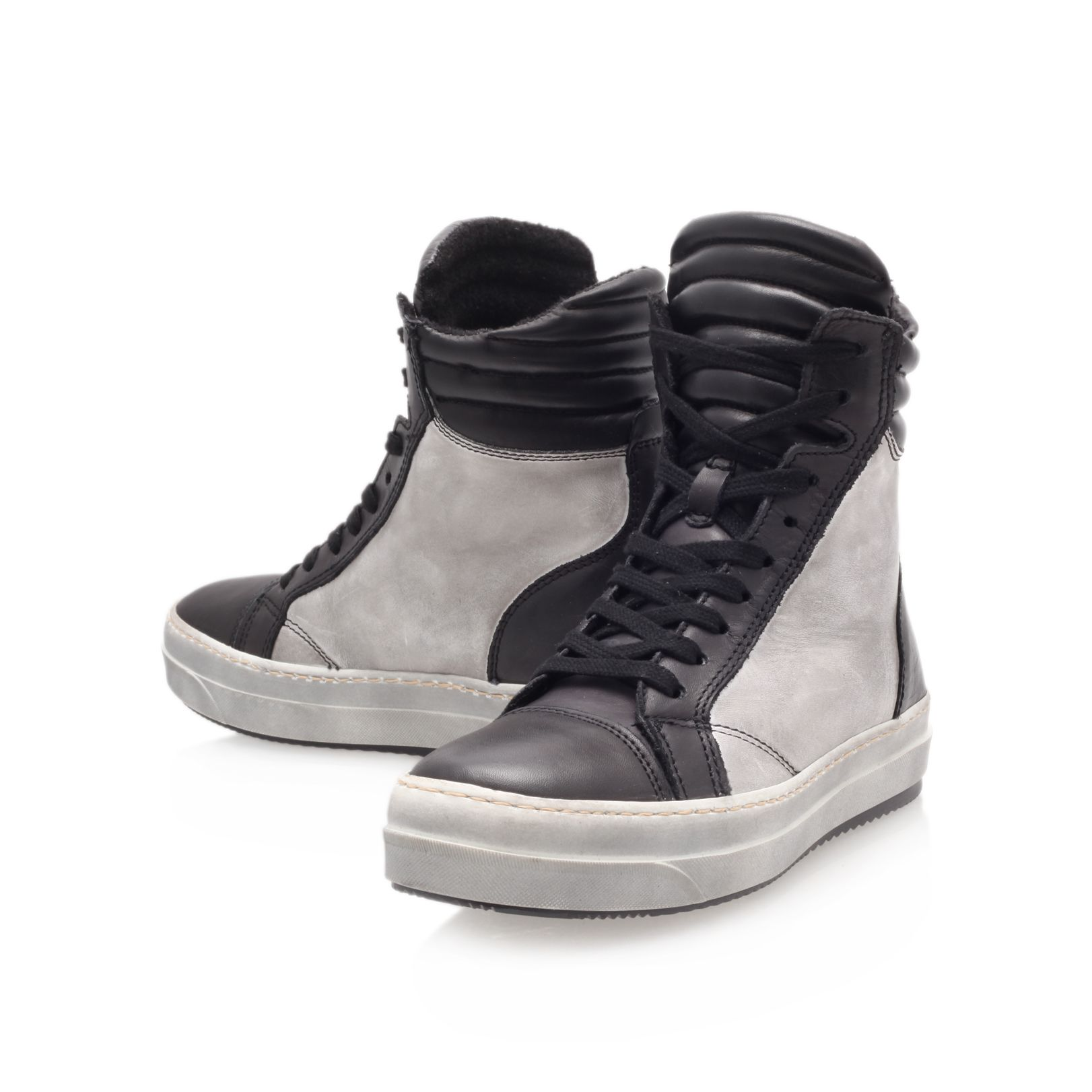 Ace flat hi-top trainers