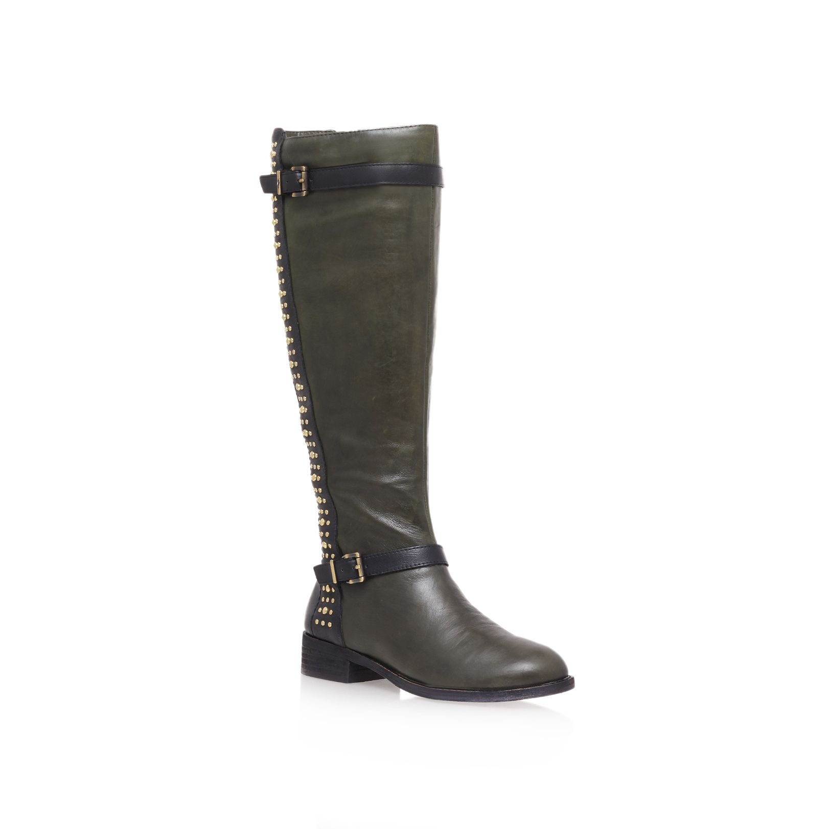 Ellister low heel calf boots
