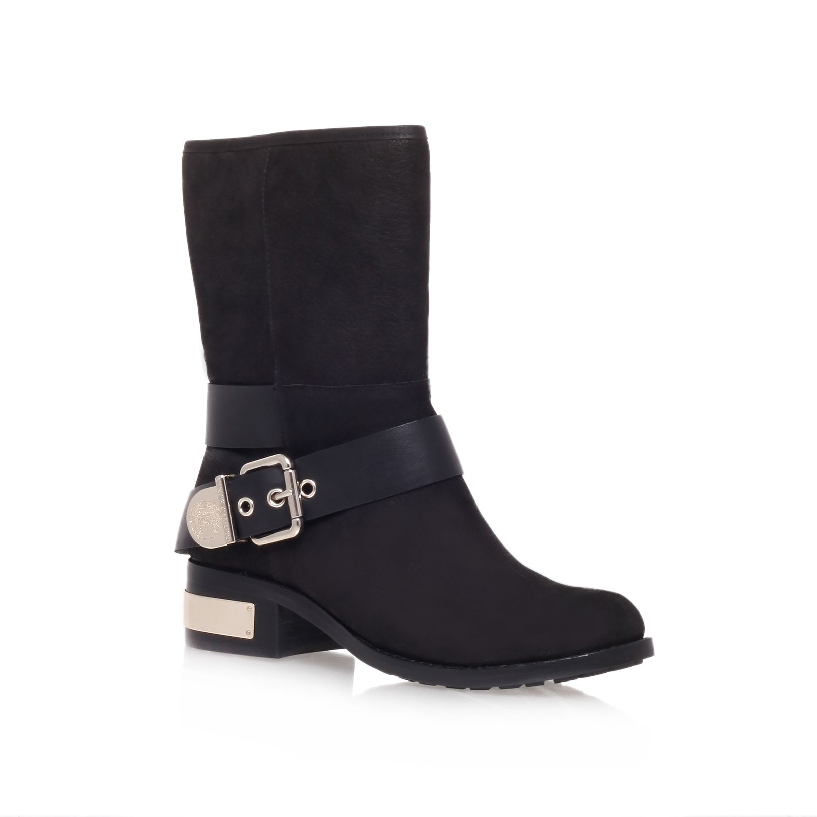 Wellsley low heel biker boots