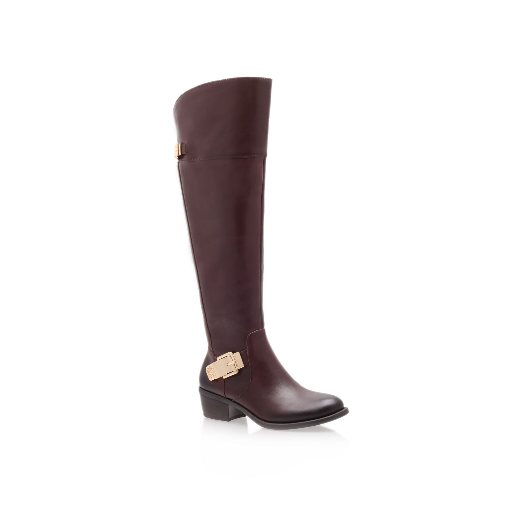 Bocca low heel knee boots