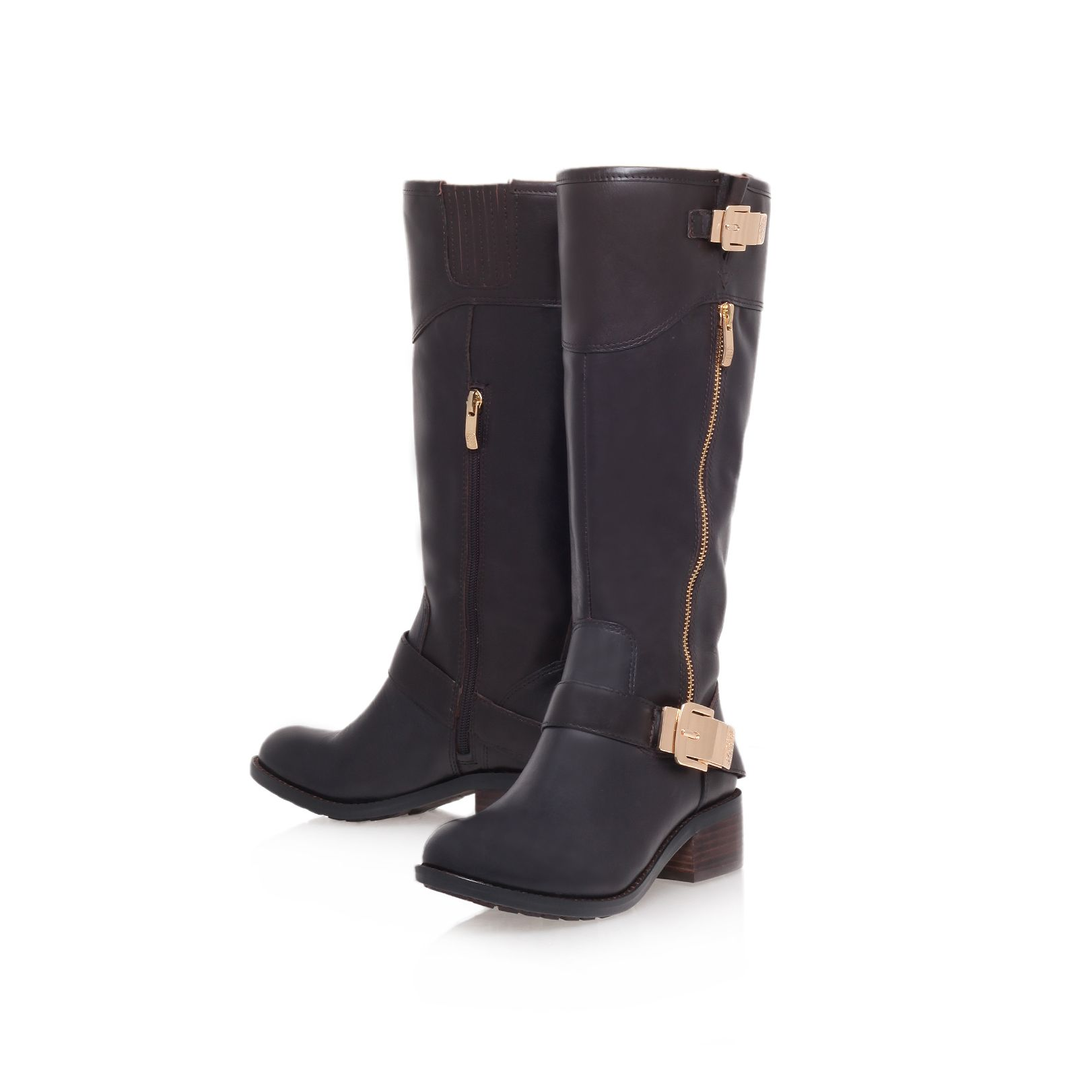 Waymin low heel knee boots