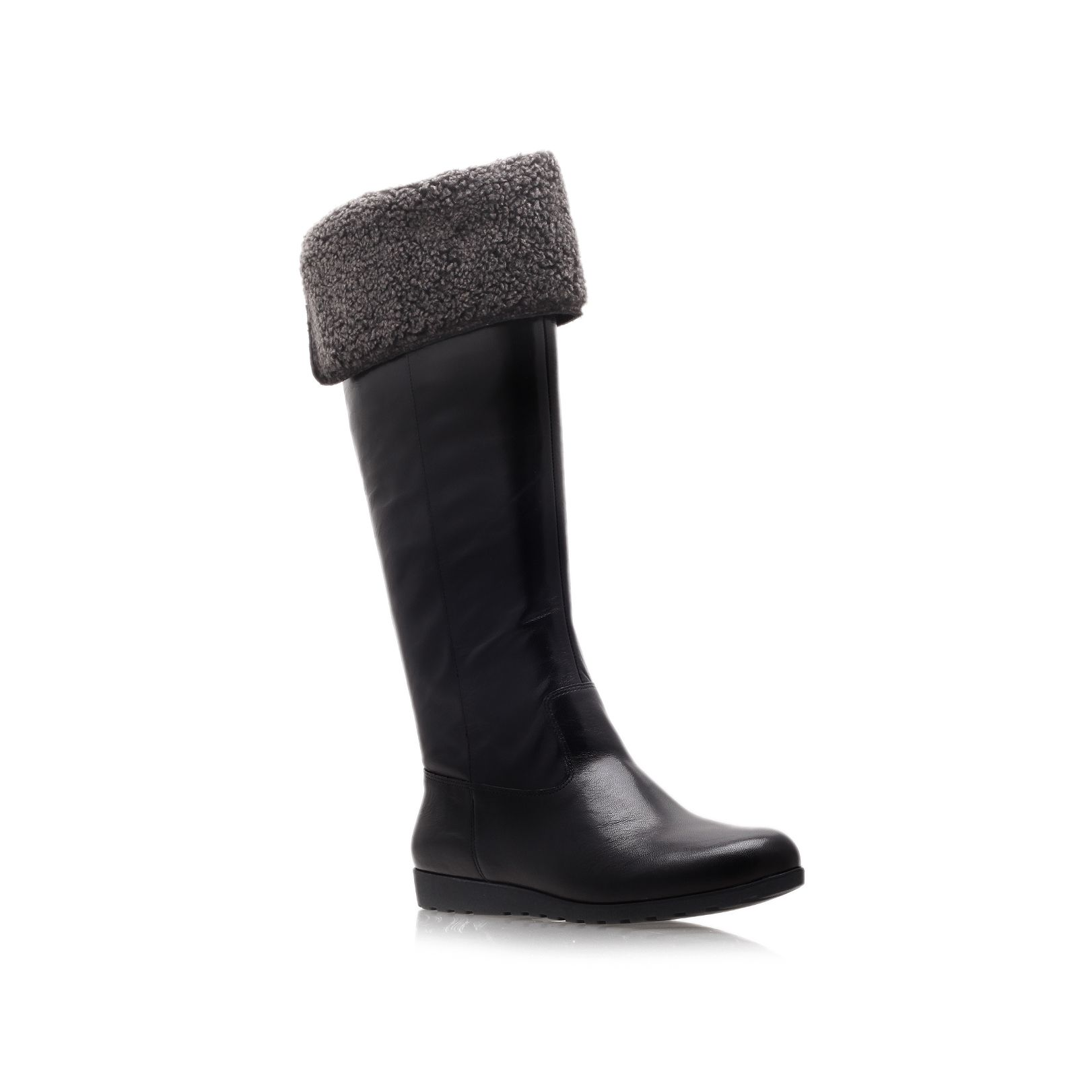 Diyella flat knee high boots