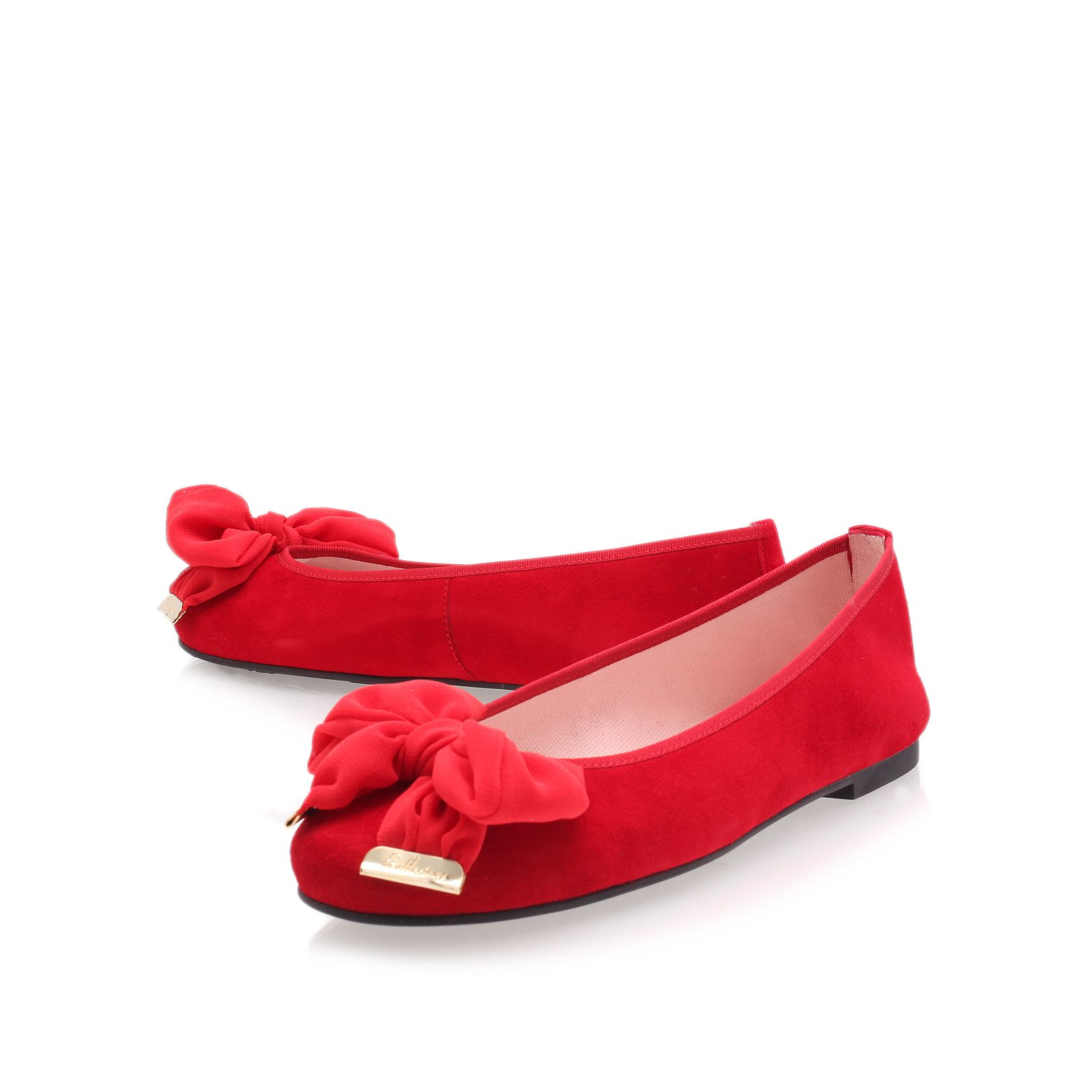 Large bow ballerina shoes