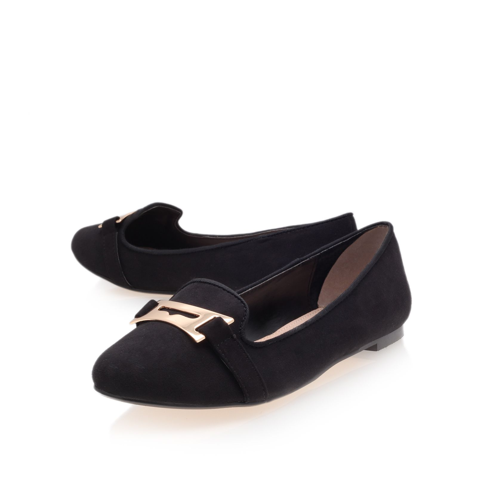 Mauve flat court shoes