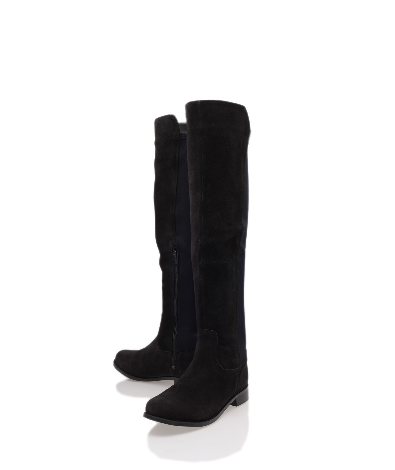 Peggy suede over the knee flat boots