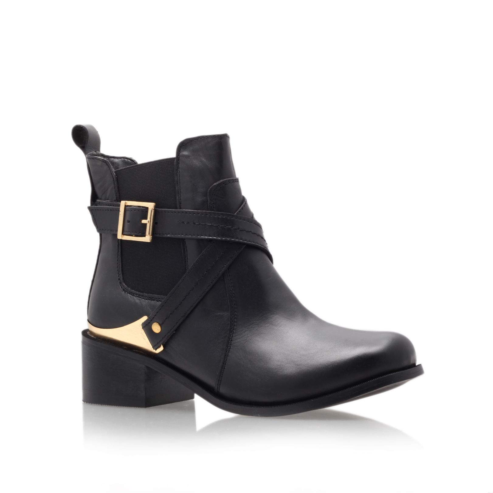 Teddy low heel ankle boots