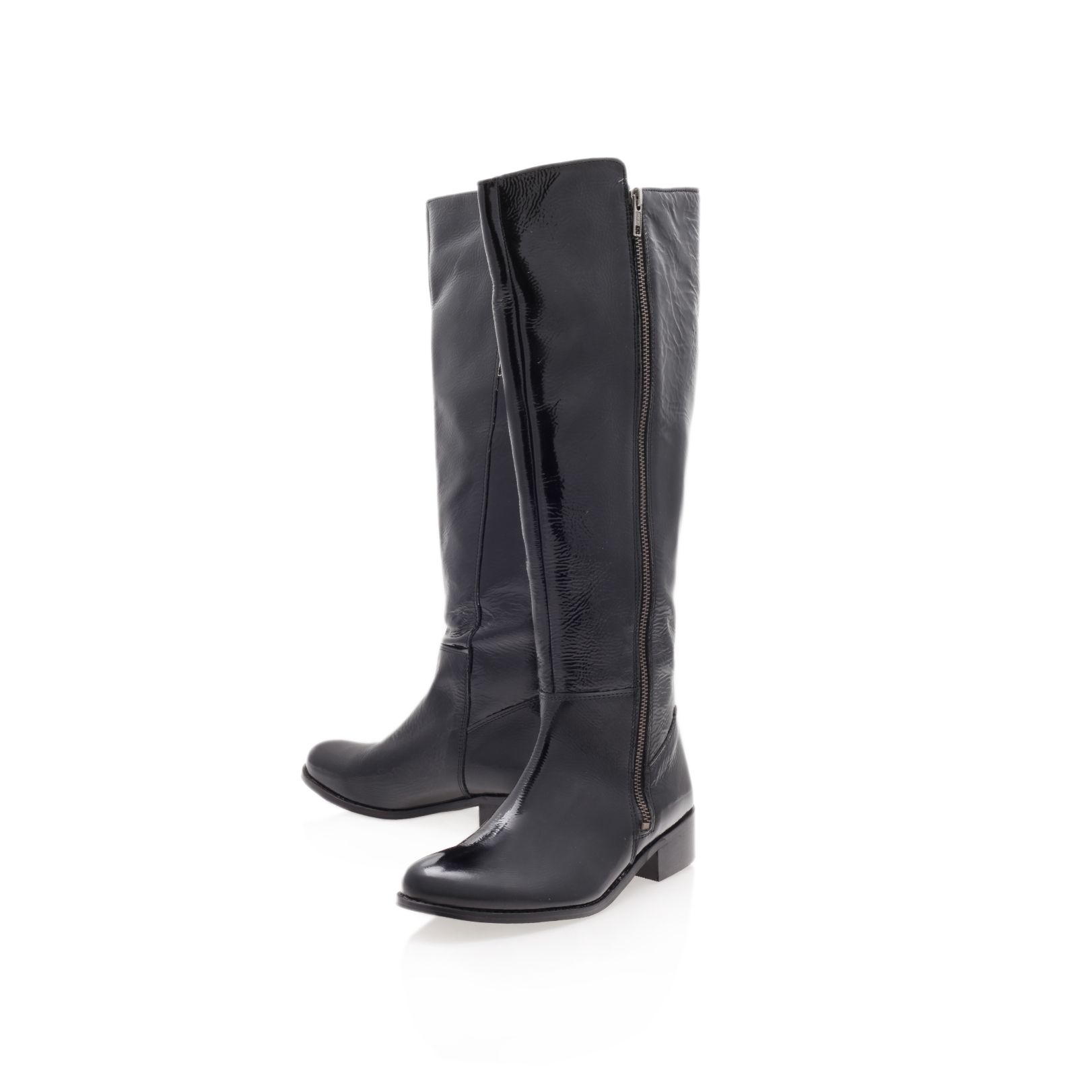Paris low heeled knee length boots
