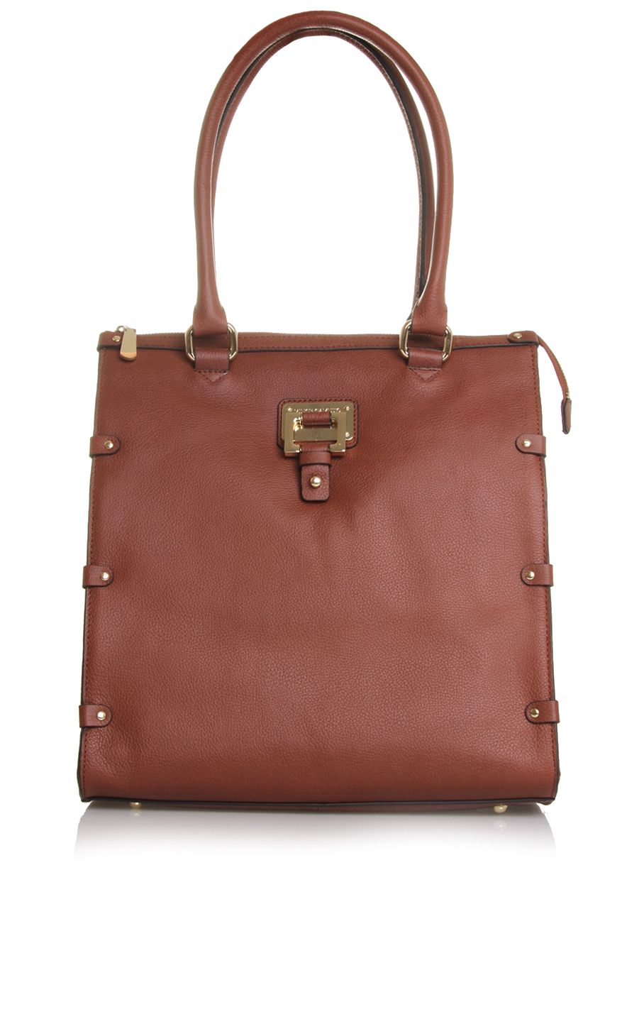 Dani brown leather tote bag