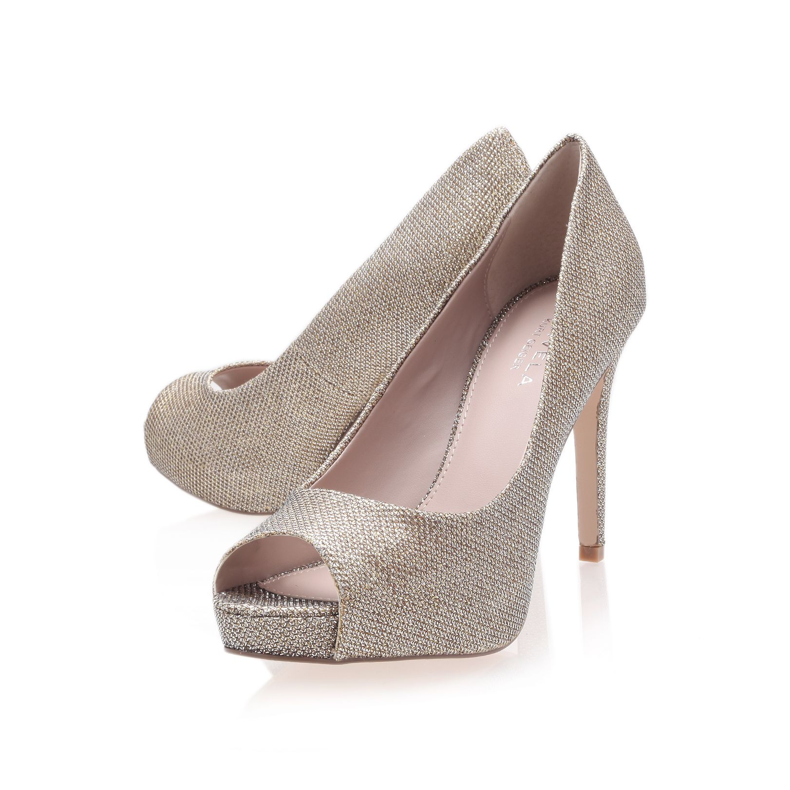 Lara peep toe shoes