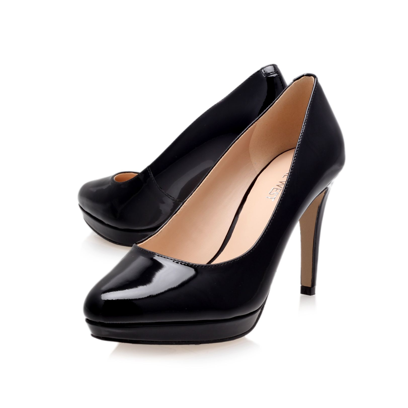 Beautie heeled court shoes
