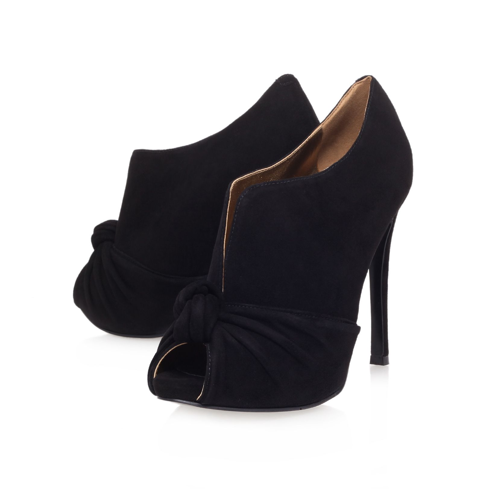 Amiah high heel high fronted peep toe courts