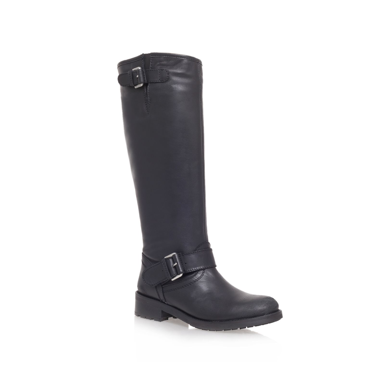 Albion low heel knee boots