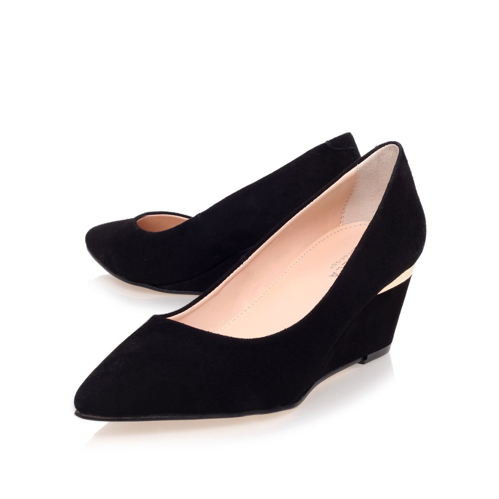 Avenue mid heel wedges