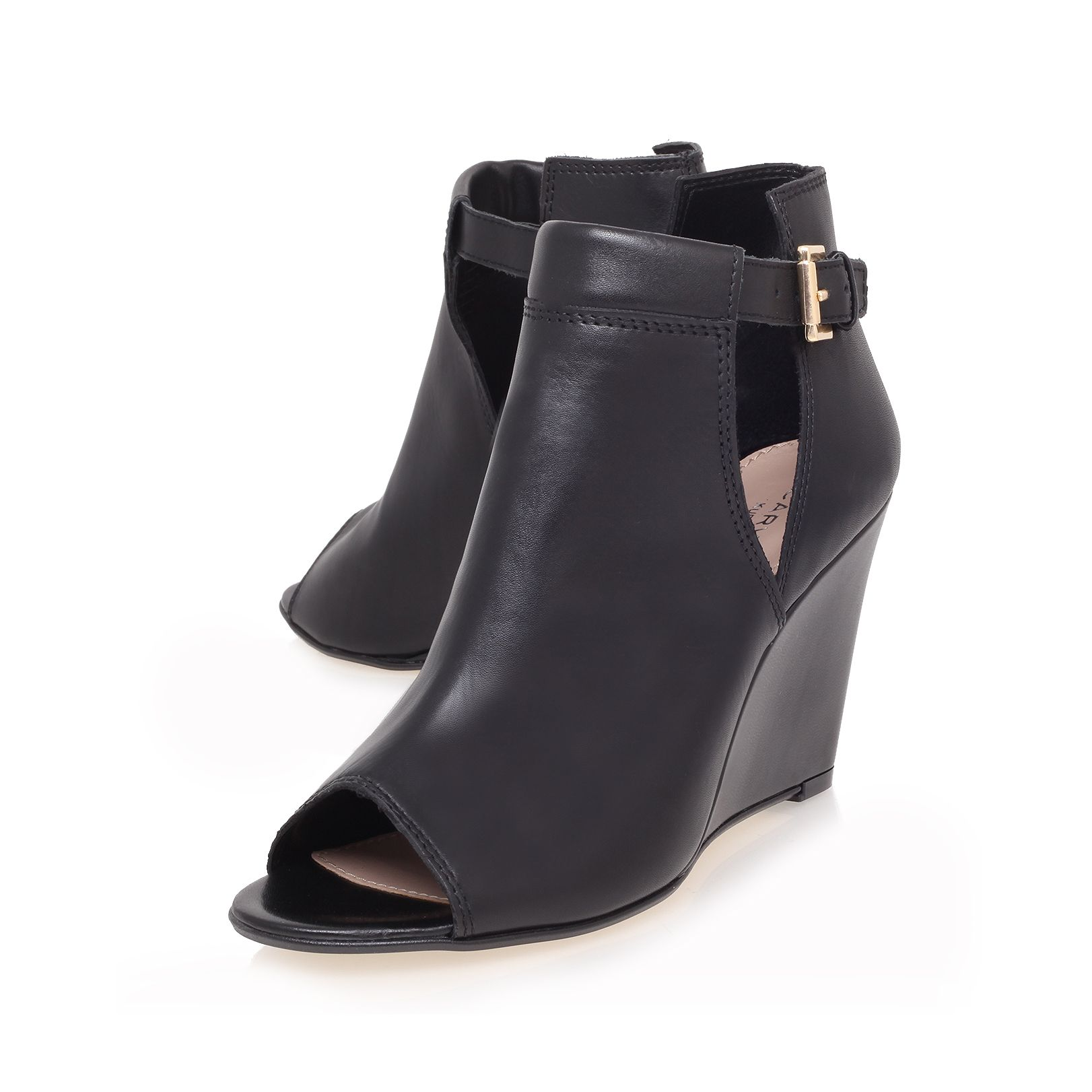 Small high heel wedge ankle boots