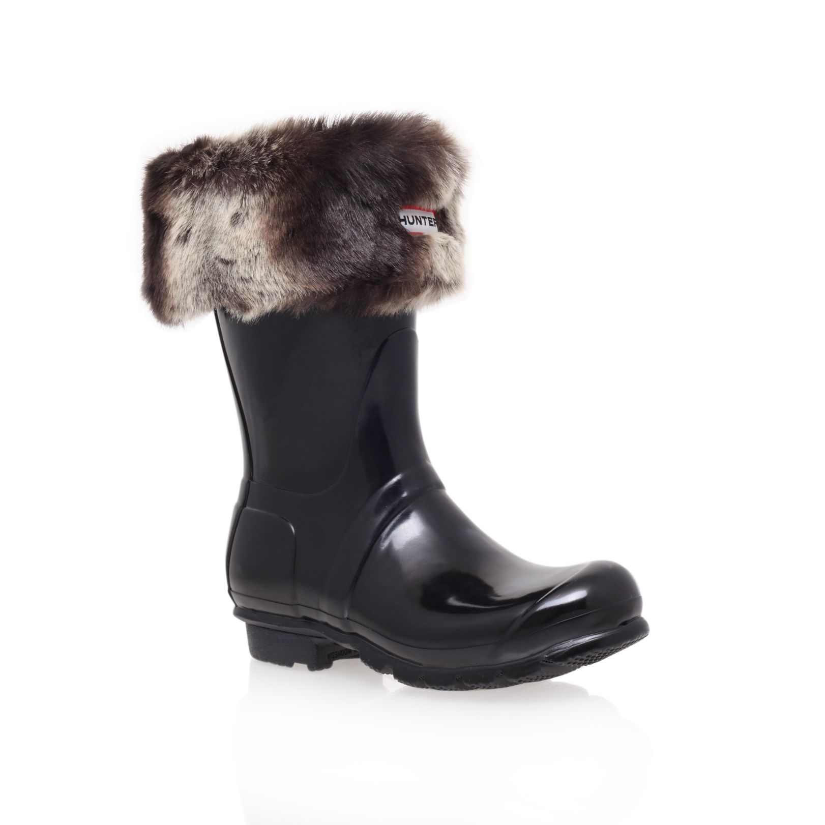 Soft furry cuff boot sock