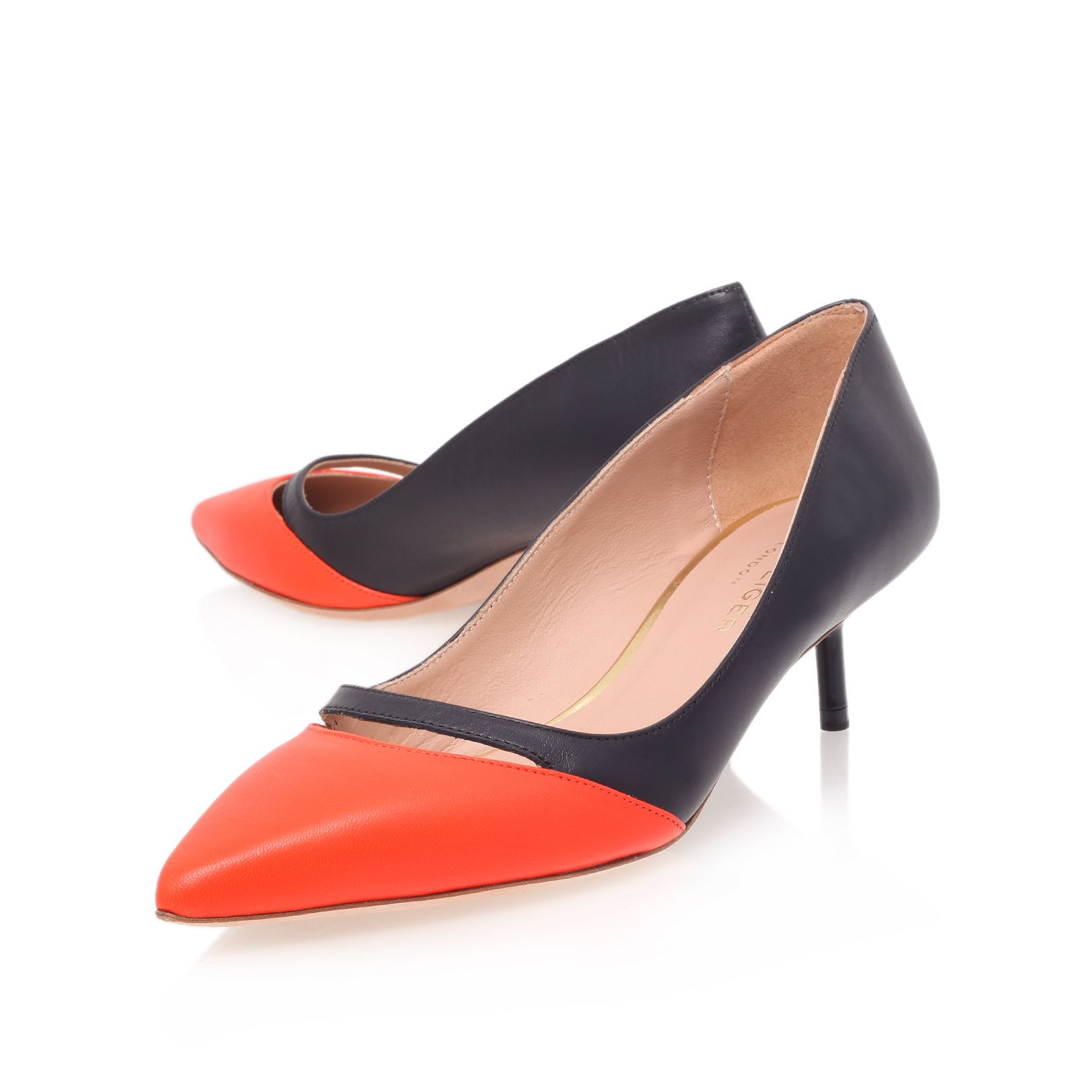 Cordelia low heel court shoes