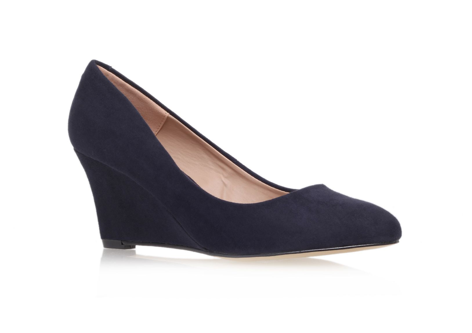 Krissy mid heel wedge court shoes