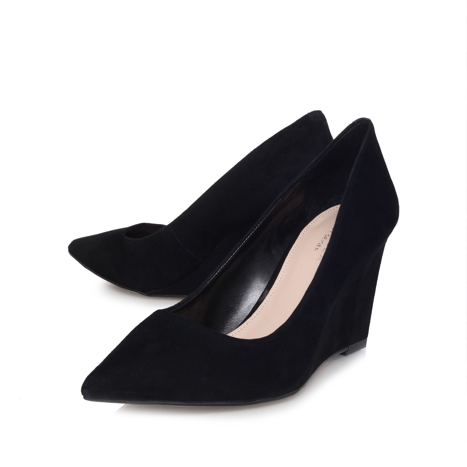 High heel wedge court shoes