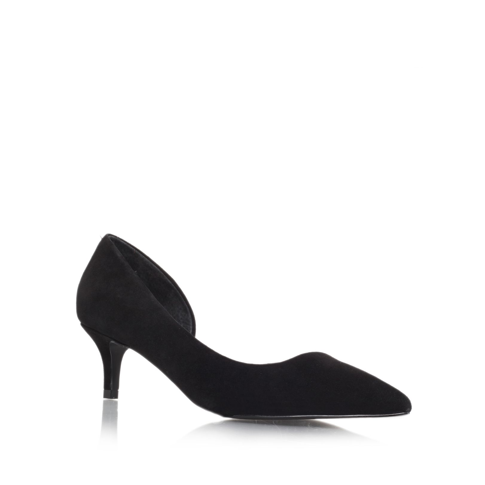 Cara low heel court shoes