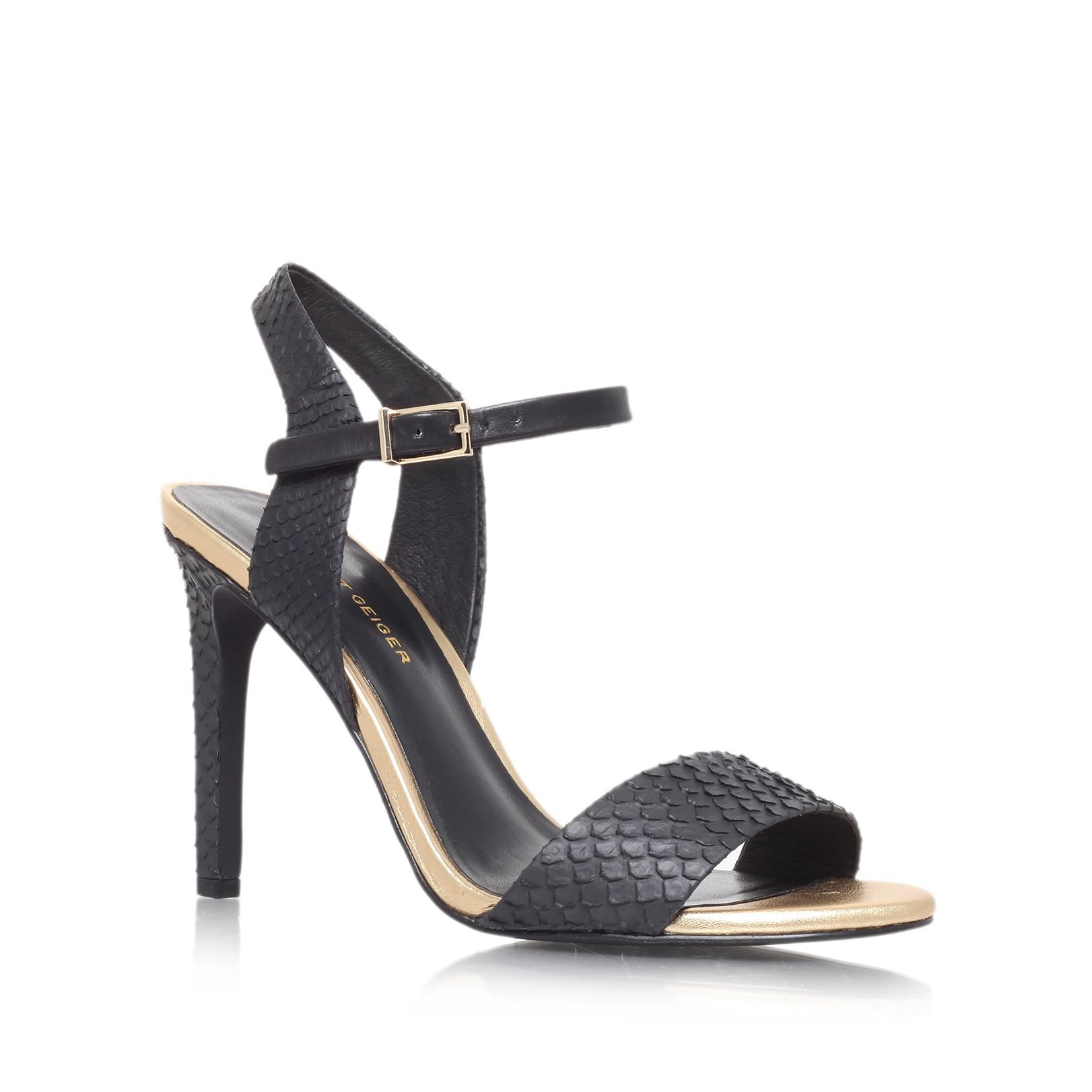Jamie high heel snake print sandals