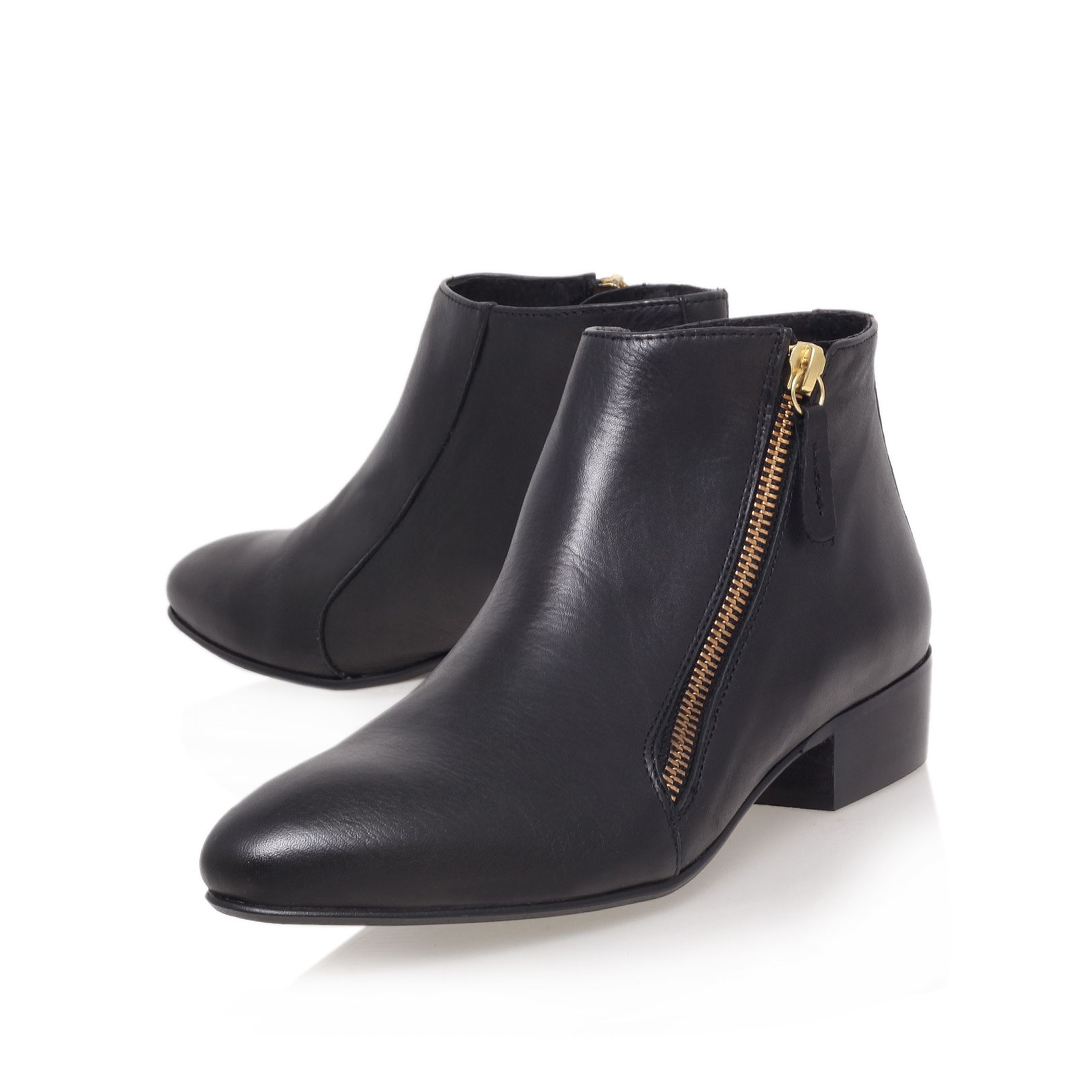 Low Heeled Black Ankle Boots