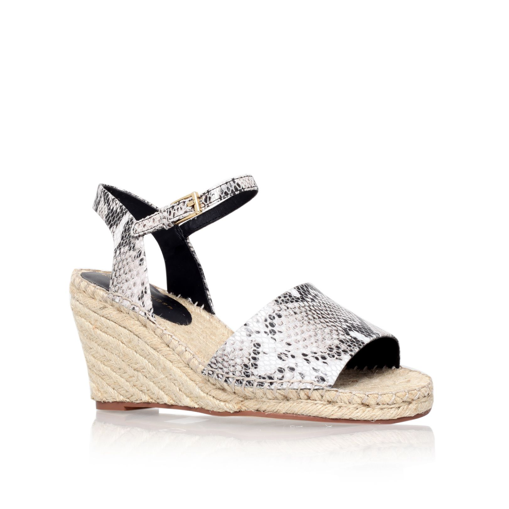 Naomi mid heel espadrille wedge sandals