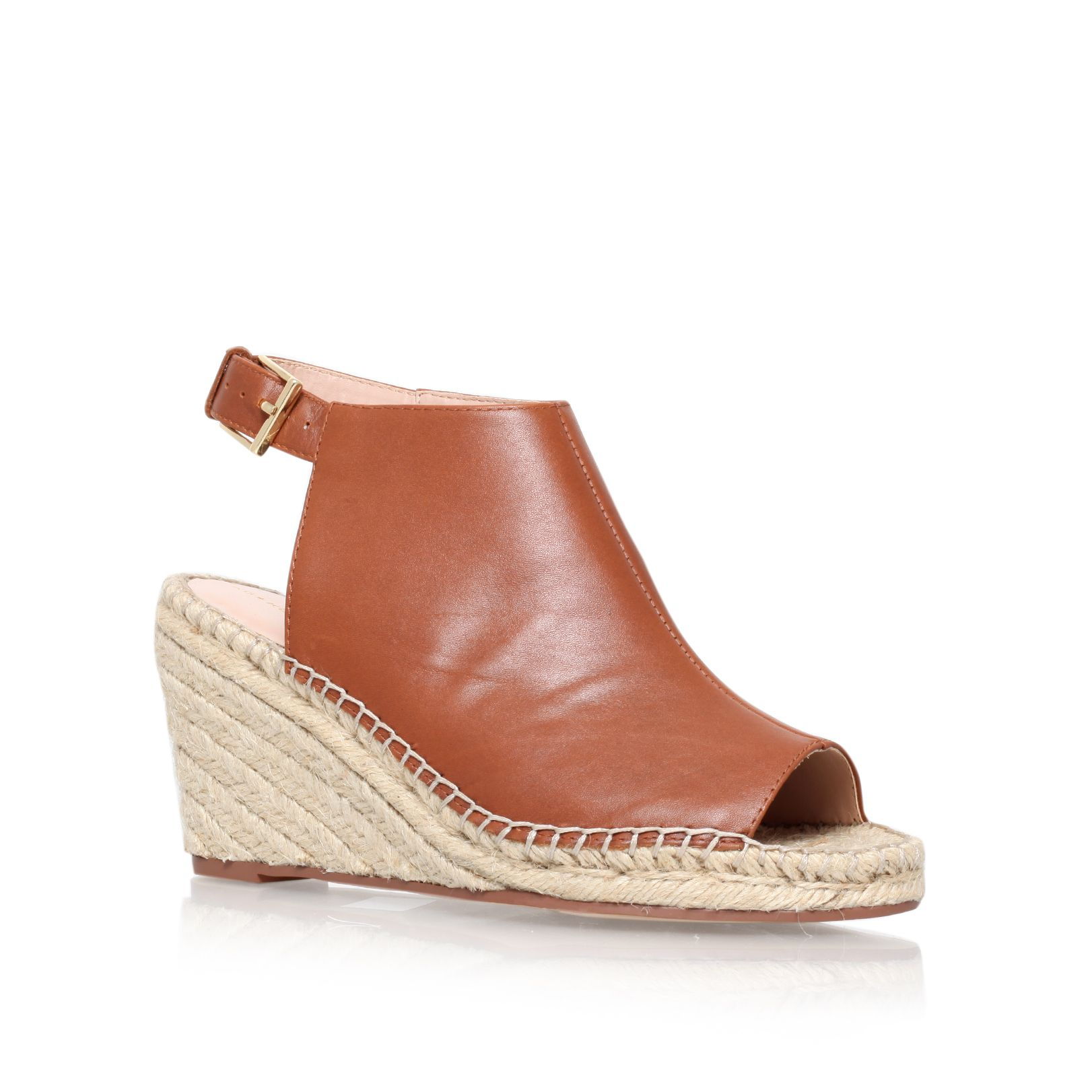 Nelly mid heel espadrille wedge sandals